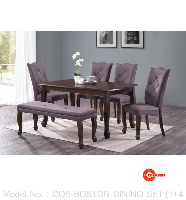 COS-BOSTON DINING SET (1+4+1)